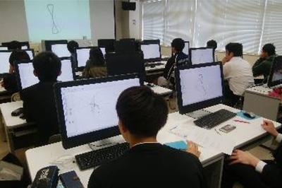 授業・実習風景 作図ツールによるICT活用授業